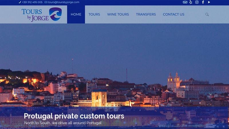 tour jorge lusoaloja desenvolvimento de websites